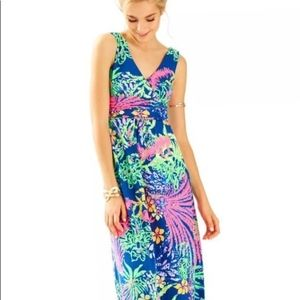 Lilly Pulitzer Sloane Maxi Dress XL All A Glow